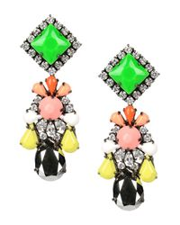 Shourouk | Green Marguerite Bambi Earrings | Lyst