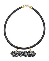 Lily Kamper - Black Necklace - Lyst