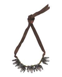 Stefanel - Black Necklace - Lyst