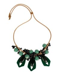 Marni | Green Necklace | Lyst