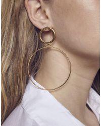 Maria Francesca Pepe - Metallic (h)oops Maxi Earrings - Lyst