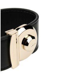 Ferragamo - Black Bracelet - Lyst