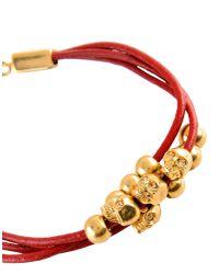 Alexander McQueen   Red Bracelet   Lyst