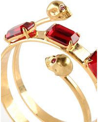 Alexander McQueen - Red Bracelet - Lyst