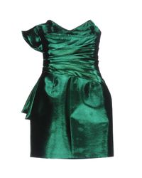 Saint Laurent - Green Short Dress - Lyst