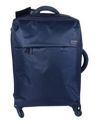 Lipault | Blue Wheeled Luggage | Lyst
