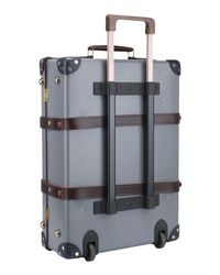 Globe-Trotter - Gray Wheeled Luggage for Men - Lyst