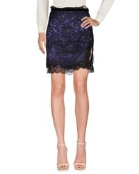 Dolce & Gabbana Purple Knee Length Skirt