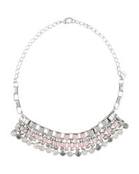 Pinko - Pink Necklace - Lyst