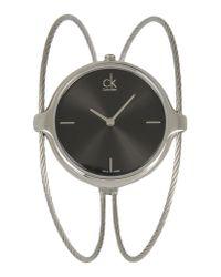 CK Calvin Klein - Metallic Wrist Watch - Lyst