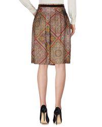 Etro - Gray Knee Length Skirt - Lyst