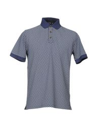 Andrea Fenzi - Blue Polo Shirt for Men - Lyst