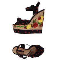 Dolce & Gabbana - Black Sandalias - Lyst