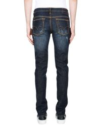 Sun 68 - Blue Denim Trousers for Men - Lyst