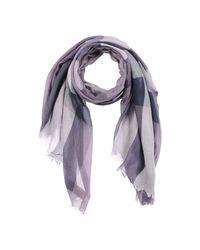 Burberry - Purple Scarf - Lyst