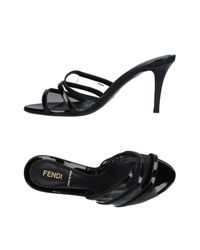 Fendi | Black Sandals | Lyst