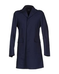 Ports 1961 - Blue Overcoat for Men - Lyst
