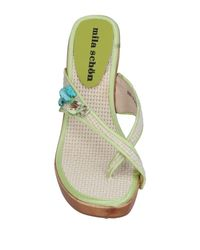 Mila Schon - Natural Toe Strap Sandals - Lyst