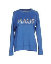 Haus By Golden Goose Deluxe Brand | Blue Sweatshirt | Lyst
