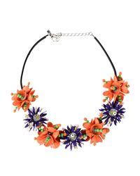 Moschino - Orange Necklace - Lyst