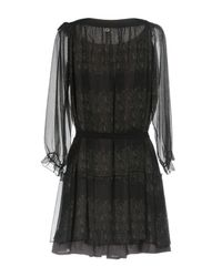 Scee By Twin-set - Black Short Dresses - Lyst
