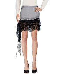 John Richmond - Gray Knee Length Skirt - Lyst