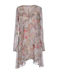 Patrizia Pepe - Natural Short Dress - Lyst