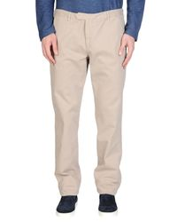 Blue Les Copains - Natural Casual Pants for Men - Lyst