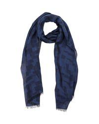 Armani - Blue Oblong Scarf for Men - Lyst