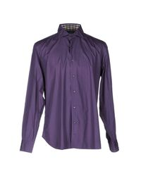 Aquascutum - Purple Shirt for Men - Lyst