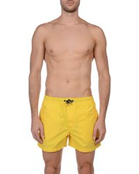 North Sails - Yellow Swim Trunks for Men - Lyst