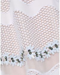 Issa - White Short Dress - Lyst