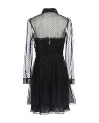 RED Valentino - Black Short Dress - Lyst