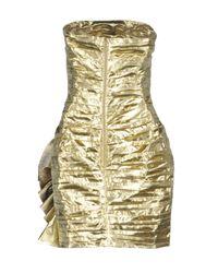 Faith Connexion - Metallic Short Dress - Lyst