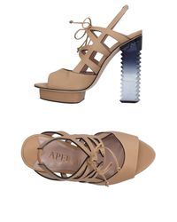 Aperlai - Natural Sandals - Lyst