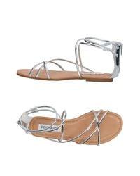 Steve Madden - Metallic Sandals - Lyst