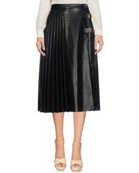 Philosophy Di Lorenzo Serafini - Black 3/4 Length Skirt - Lyst