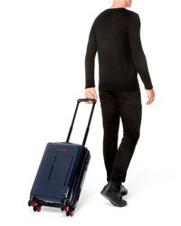 Lancel - Blue Wheeled Luggage - Lyst