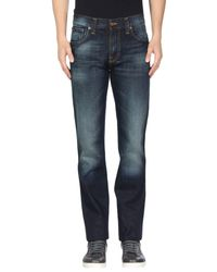 Nudie Jeans Blue Denim Pants for men