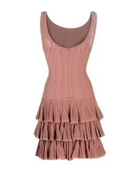 Alaïa - Pink Short Dress - Lyst