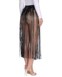 Valentino - Black 3/4 Length Skirt - Lyst