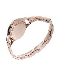 Emporio Armani - Metallic Wrist Watch - Lyst