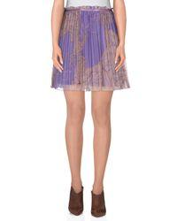 Lavand - Purple Mini Skirt - Lyst