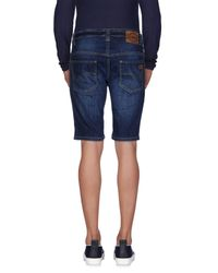 Dickies Blue Denim Bermudas for men
