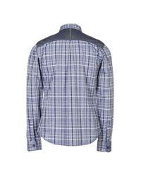 Armani Exchange - Blue Shirt for Men - Lyst