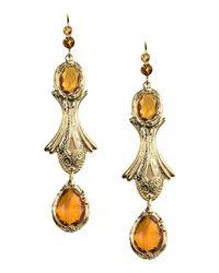 Alberta Ferretti - Metallic Earrings - Lyst