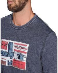 Napapijri - Blue T-shirt for Men - Lyst