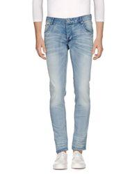 Solid - Blue Denim Pants for Men - Lyst