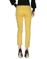 Scaglione - Yellow Casual Trouser - Lyst