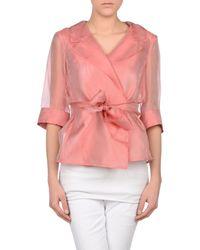 Armani - Pink Blazer - Lyst